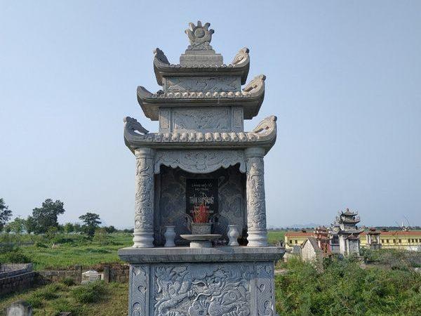 Lăng mộ đá xanh đẹp nhất giá hợp lý thiết kế hiện đại