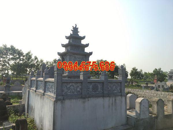 Lăng mộ đá xanh đẹp nhất thiết kế đơn giản