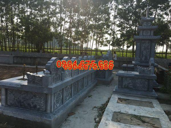 Lăng mộ đá xanh đẹp nhất giá rẻ thiết kế đơn giản