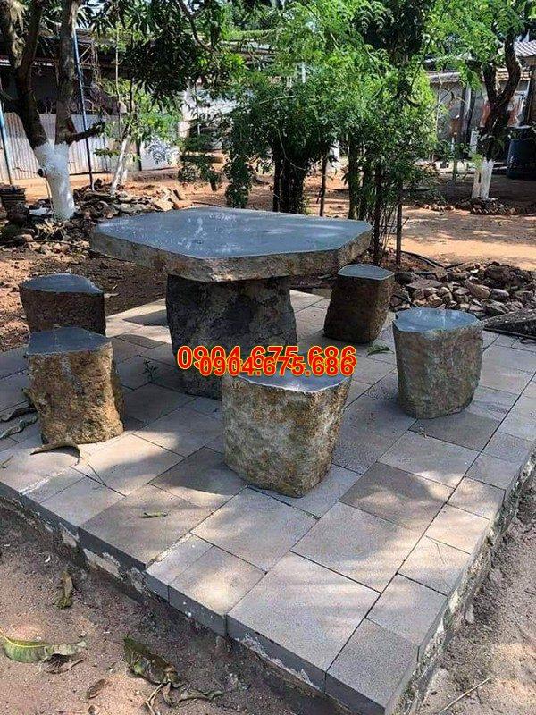 Bàn ghế đá xanh đẹp chất lượng tốt giá rẻ thiết kế cao cấp