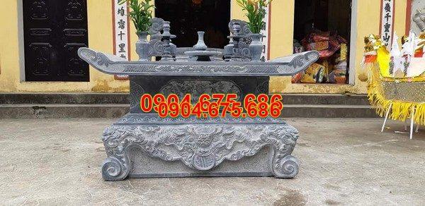 Bàn lễ đá khối đẹp chất lượng cao giá rẻ thiết kế đơn giản