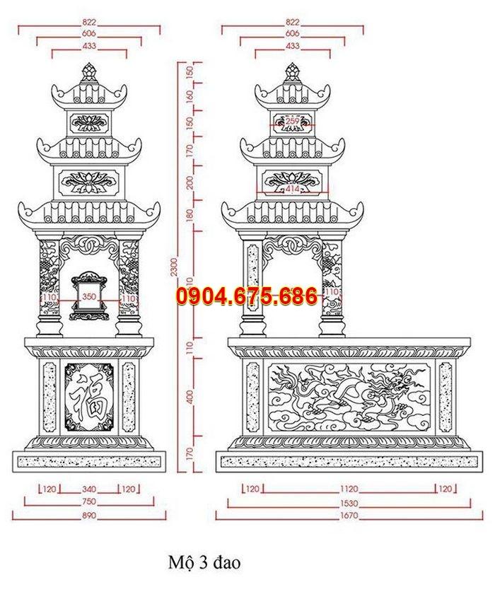 Bản vẽ thiết kế mộ bành
