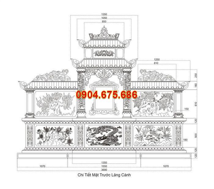 Bản vẽ thiết kế mộ đẹp chuẩn phong thủy nhất