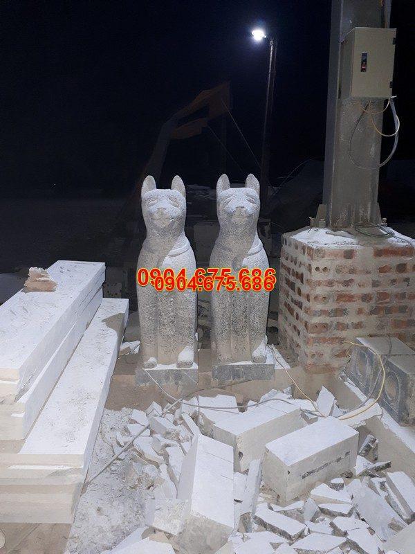 Tượng chó đá phong thủy đẹp chất lượng cao giá hợp lý