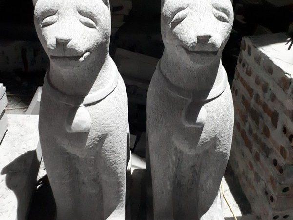 Tượng chó đá phong thủy đẹp chất lượng tốt giá tốt
