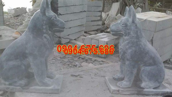 Tượng chó đá phong thủy đẹp nhất chất lượng cao giá rẻ