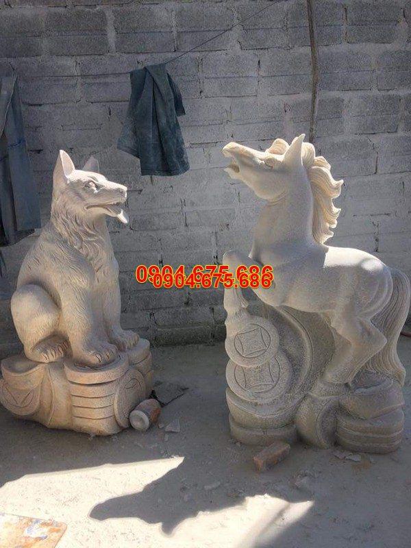 Tượng chó đá phong thủy đẹp nhất chất lượng cao giá hợp lý
