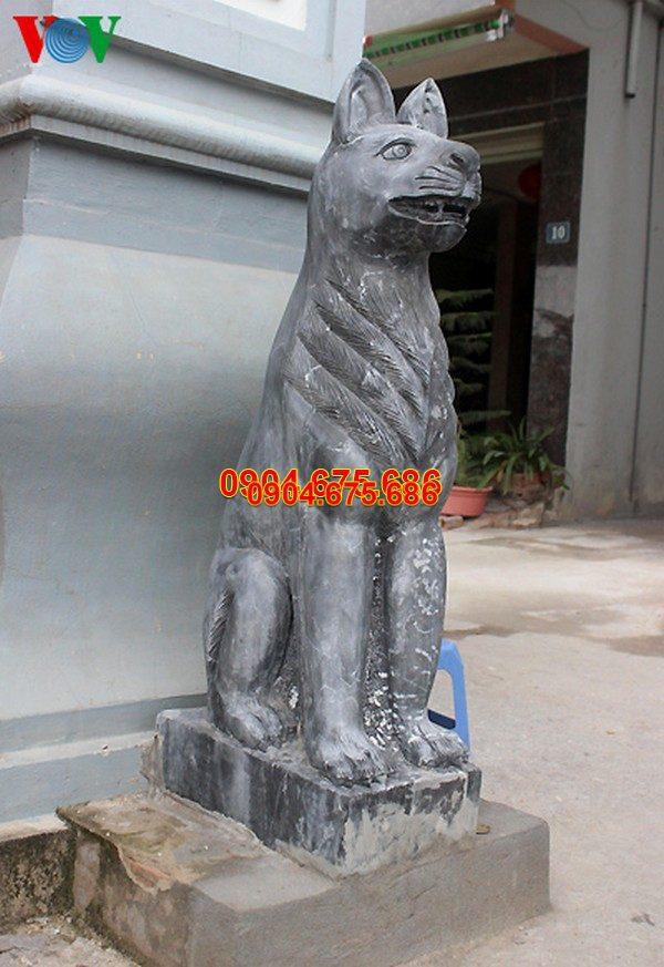 Tượng chó đá phong thủy đẹp nhất chất lượng tốt giá rẻ