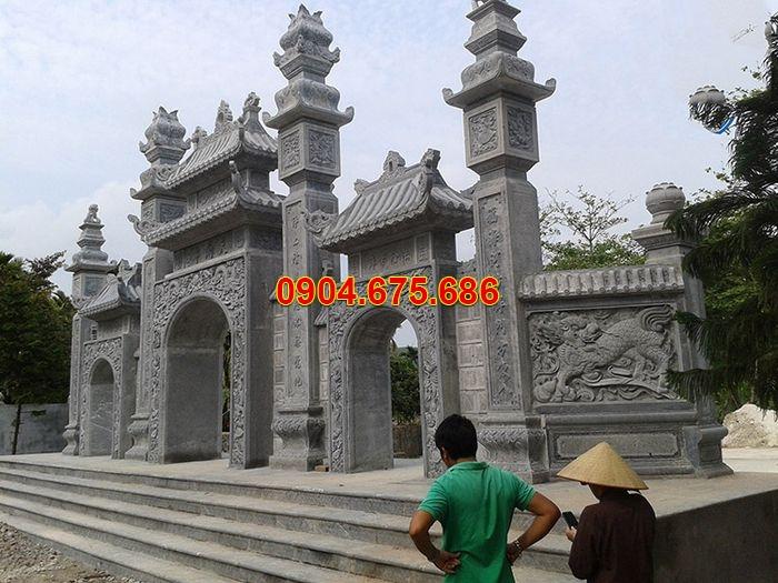 Những mẫu cổng tam quan bằng đá đẹp và ý nghĩa kiến trúc, phong thủy