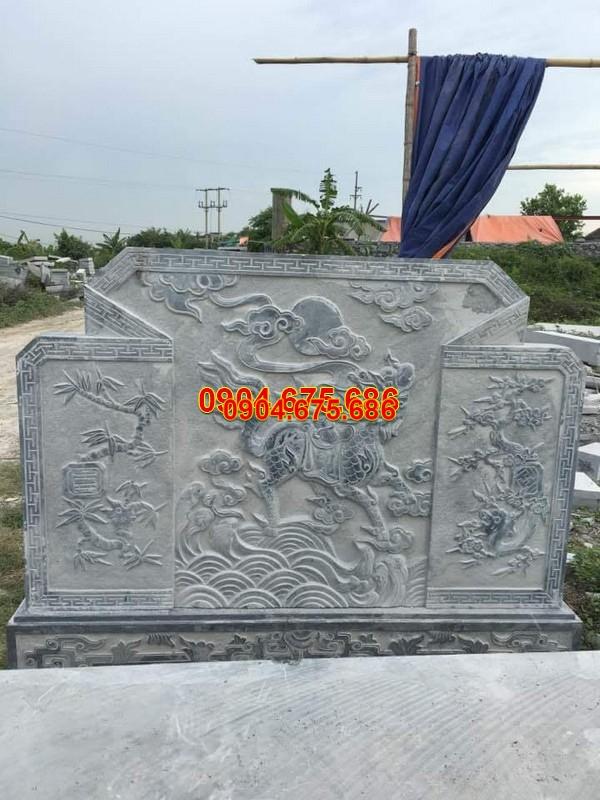Cuốn thư bình phong đá chạm khắc đẹp giá rẻ