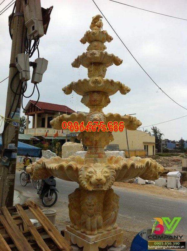 Đài phun nước bằng đá tự nhiên đẹp nhất thiết kế đơn giản giá rẻ
