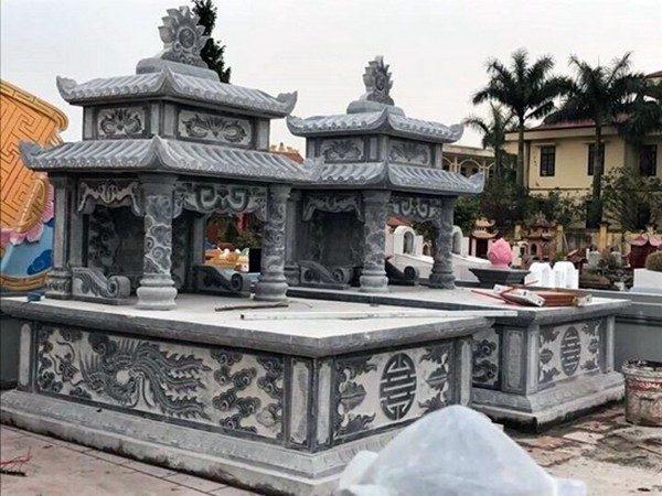 Lăng mộ đá xanh đẹp nhất giá rẻ thiết kế hiện đại