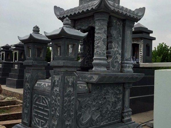 Lăng mộ đá xanh đẹp nhất thiết kế hiện đại