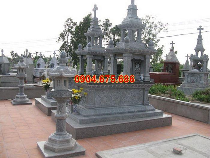 lăng mộ đá công giáo, lăng mộ đá đôi, lăng mộ đá đẹp, cây đèn đá, khu lăng mộ công giáo