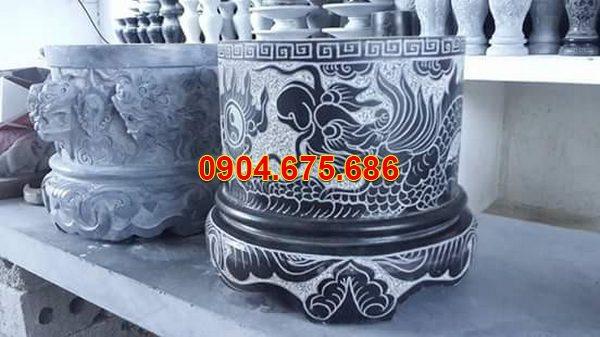 Bát hương đá xanh đẹp nhất chất lượng cao giá tốt thiết kế đơn giản