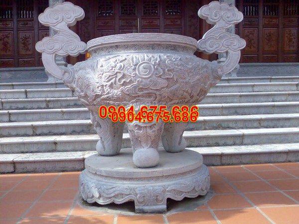 Lư hương đá chạm khắc tinh tế chất lượng cao giá tốt