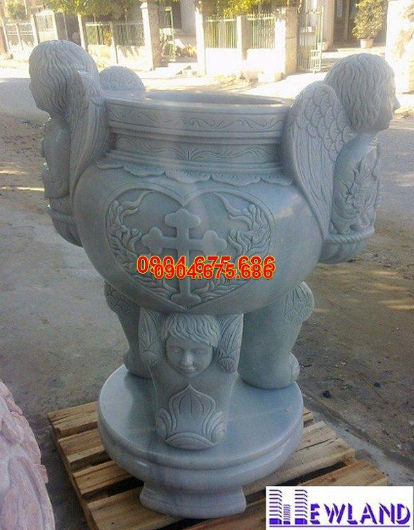 Lư hương đá chạm khắc tinh tế thiết kế hiện đại giá tốt