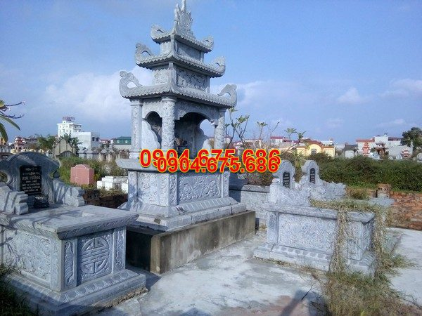 Mộ đá ba mái đẹp thiết kế cao cấp chất lượng cao giá rẻ