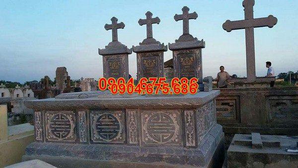 Mộ đá công giáo đẹp hoa văn tinh tế chất lượng cao giá tốt