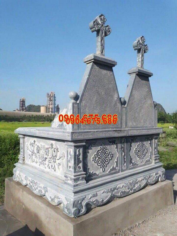 Mộ đá công giáo đẹp chạm khắc tinh xảo chất lượng cao giá tốt