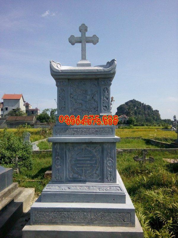 Mộ đá công giáo đẹp chạm khắc tinh xảo chất lượng tốt giá tốt
