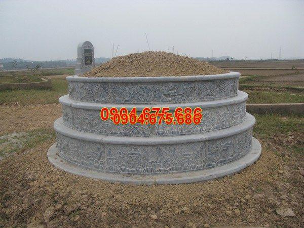 Mộ đá tròn đẹp chuẩn kích thước lỗ ban chất lượng tốt giá tốt
