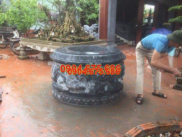 Mộ đá tròn đẹp chuẩn kích thước lỗ ban chất lượng cao giá tốt