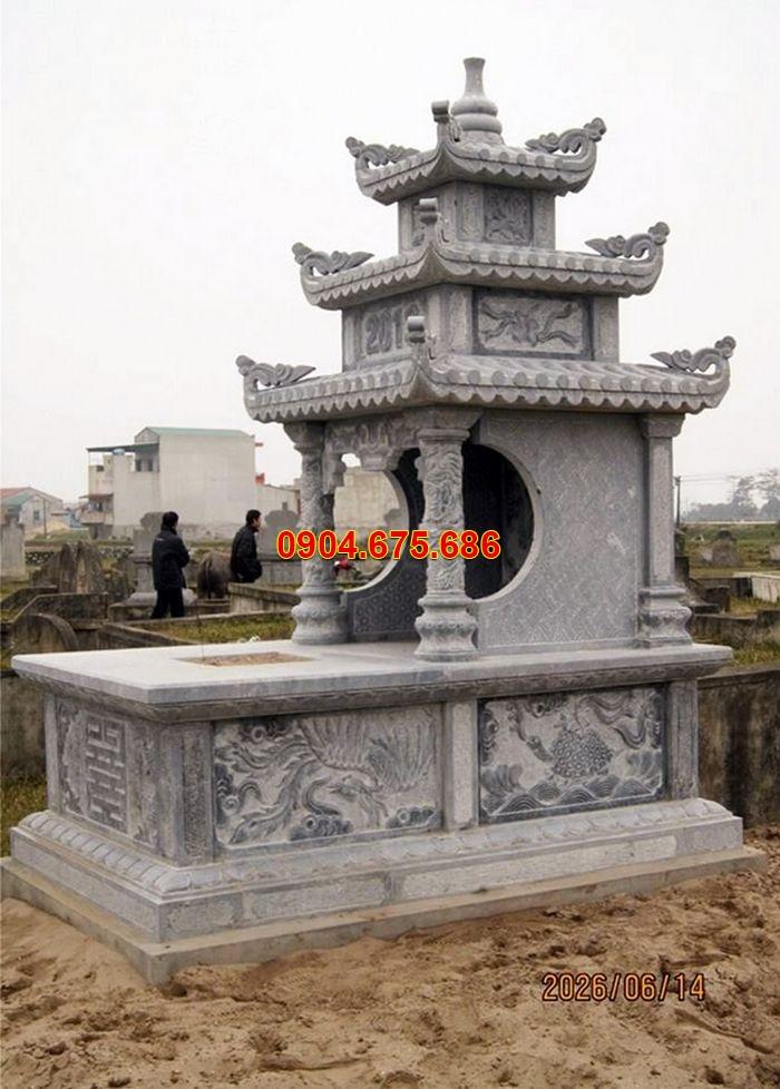 mộ đá 3 mái, mộ đá đẹp nhất việt nam, mộ đá ninh vân, hoa văn mộ đá tứ linh