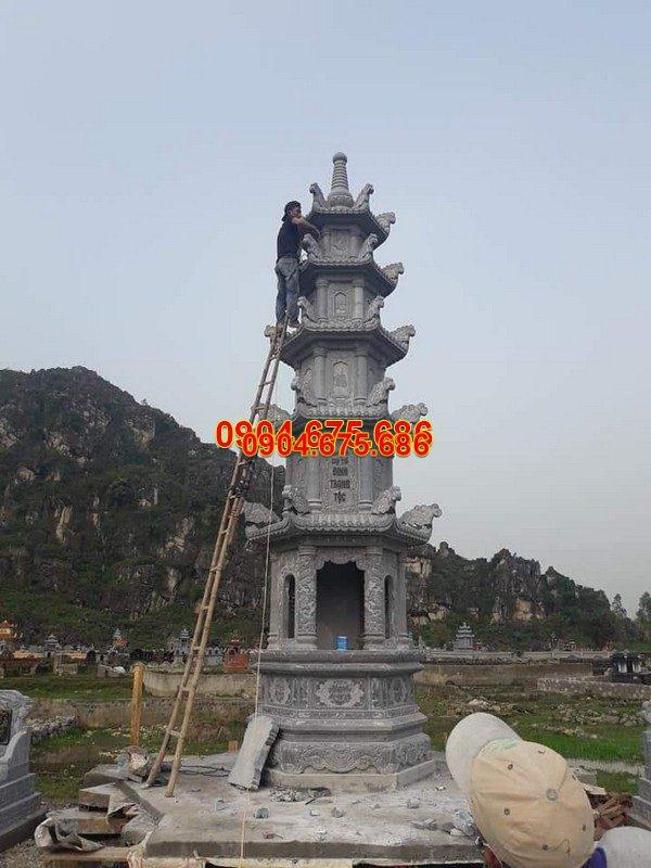 Mẫu mộ đá tháp đẹp thiết kế hiện đại chất lượng cao giá hợp lý