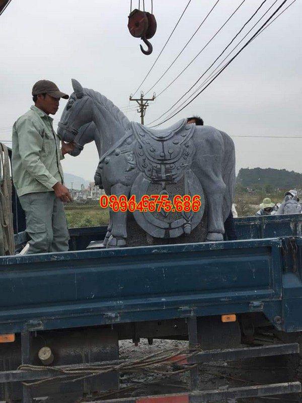 Tượng ngựa đá phong thủy đẹp chất lượng cao giá rẻ