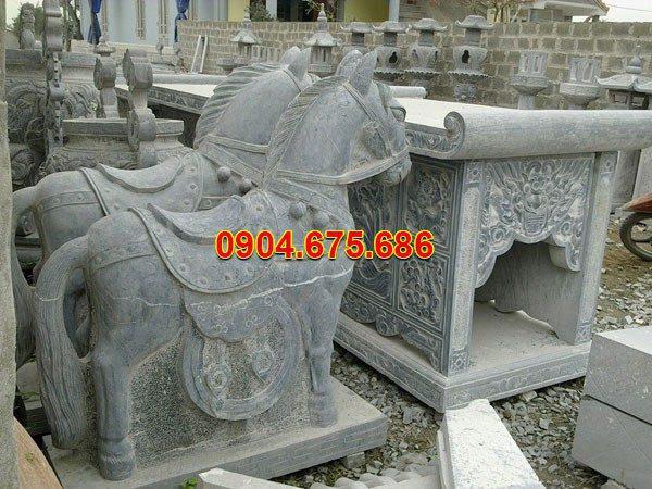 Tượng ngựa đá phong thủy đẹp chất lượng cao giá hợp lý