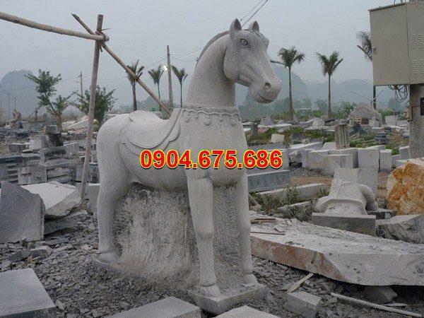 Tượng ngựa đá phong thủy đẹp chất lượng tốt giá rẻ