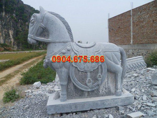 Tượng ngựa đá phong thủy đẹp chất lượng tốt giá hợp lý