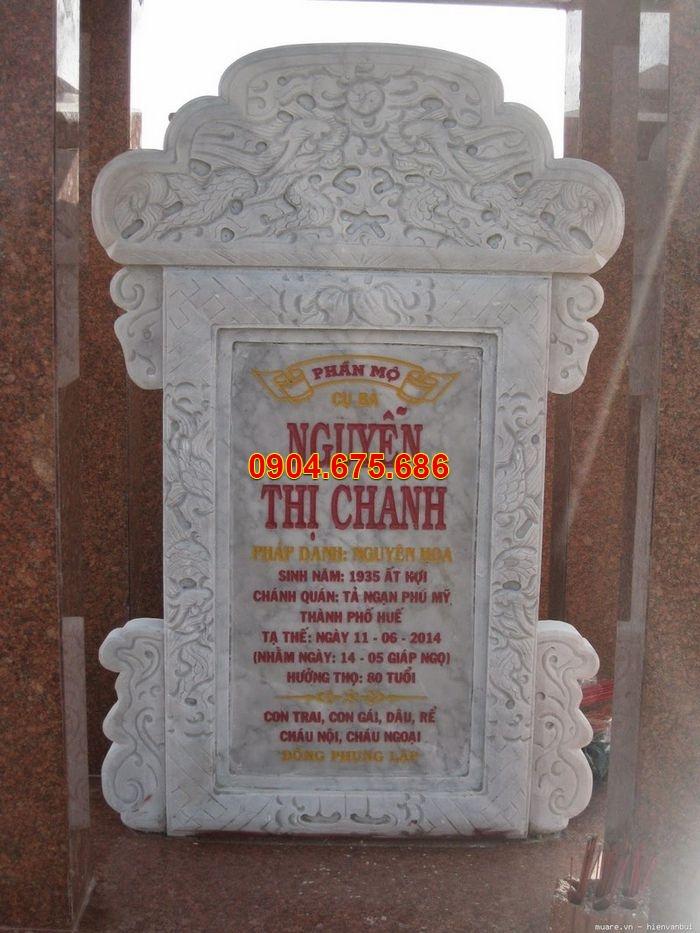 Những mẫu bia mộ bằng đá đẹp Ninh Bình, đặt bia mộ đá theo phong thủy