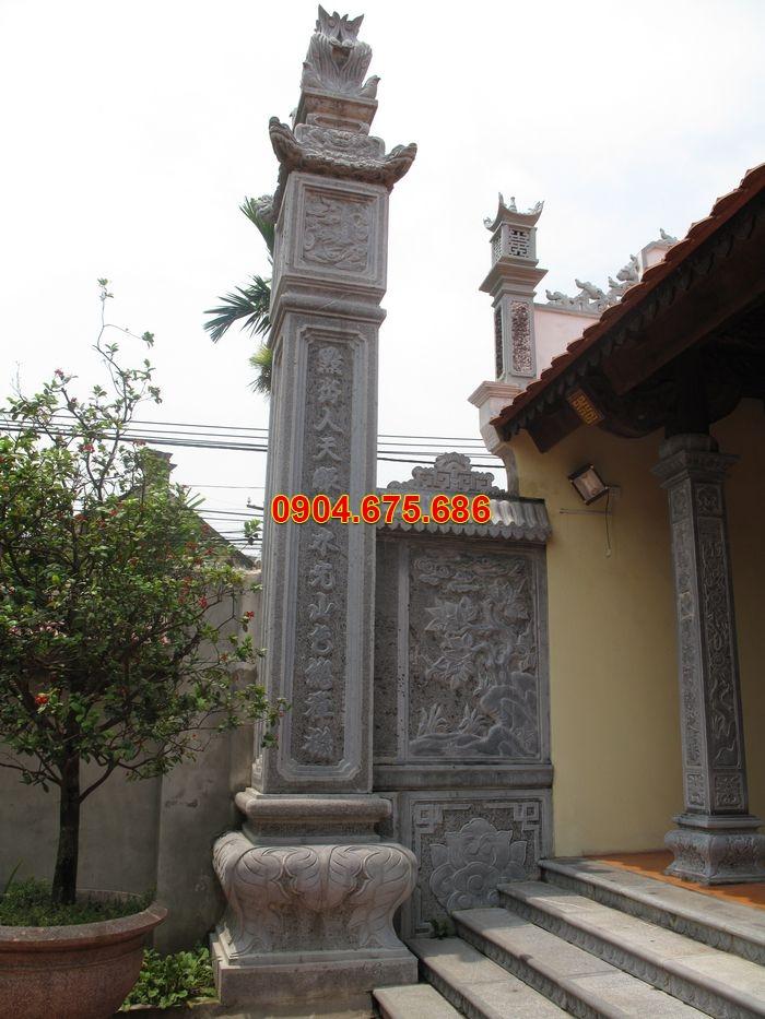 Những mẫu cột đá xanh trạm khắc hoa văn đẹp nhất hiện nay