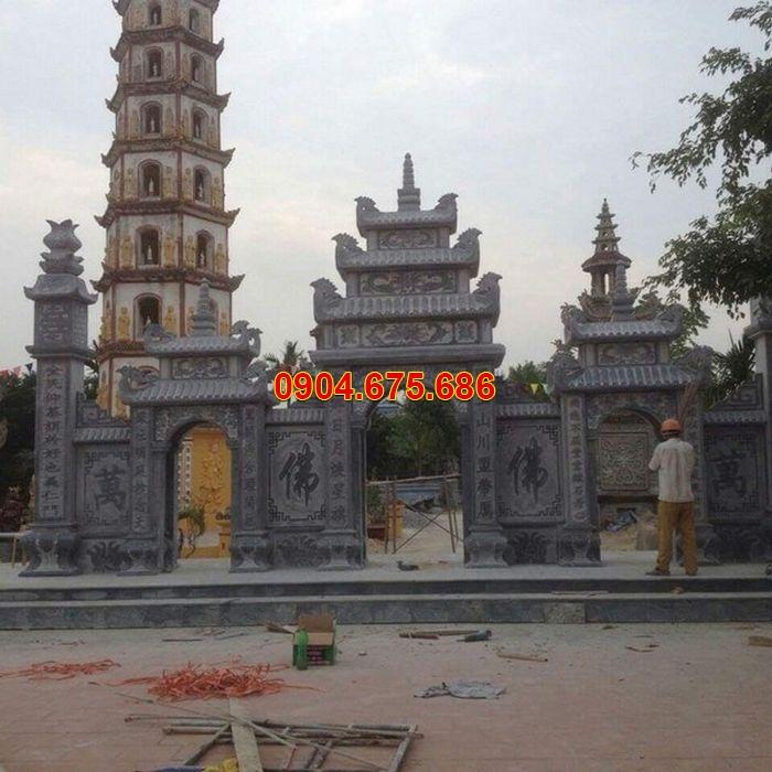 Mẫu cổng tam quan đình chùa bằng đá