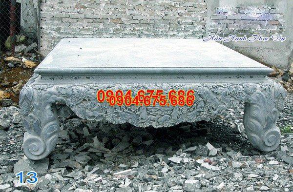 Sập đá khối chạm khắc tinh xảo chất lượng tốt giá rẻ