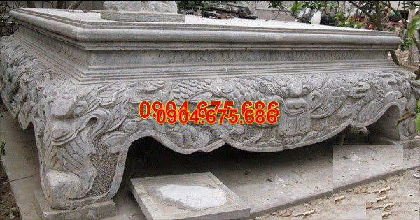 Sập đá khối chạm khắc tinh xảo chất lượng tốt giá tốt