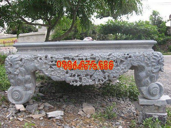 Sập đá khối chạm khắc tinh xảo chất lượng tốt giá hợp lý