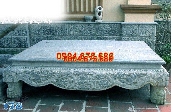 Sập đá khối chạm khắc tinh tế chất lượng cao giá rẻ