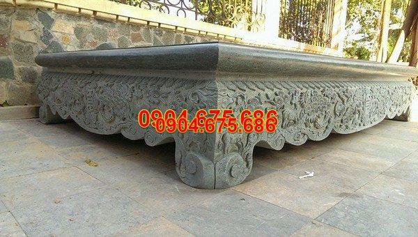 Sập đá khối chạm khắc tinh tế chất lượng cao giá tốt