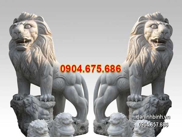 10 mẫu tượng sư tử đá viejt nam oai vệ dũng mãnh nhất