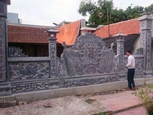 cuốn thư đá đình chùa