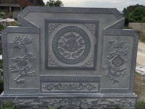 bình phong đá lăng mộ