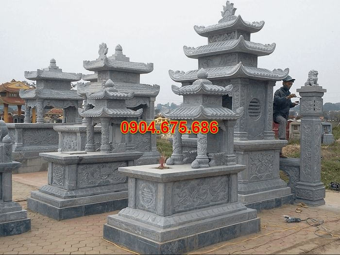 Hình ảnh khu lăng mộ đá đẹp Hải Phòng, khu lăng mộ 3 mái đá đẹp nhất 2019