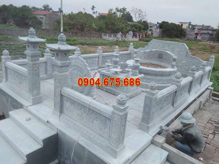 Gia công lăng mộ đá tròn tại Hải Phòng đẹp chất lượng, chuẩn phong thủy