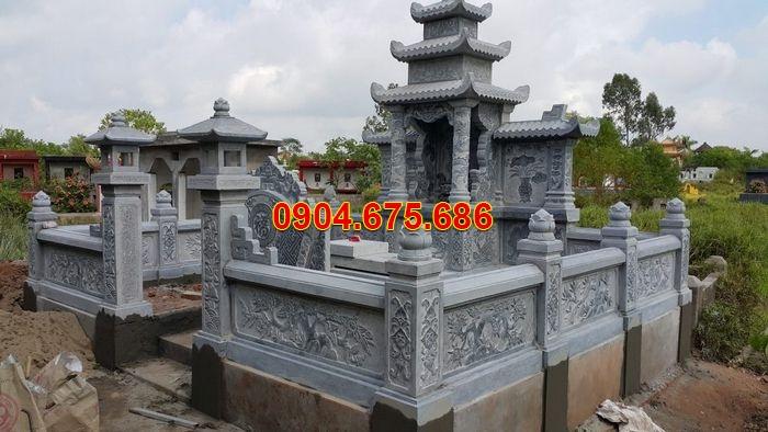 Lăng mộ đá Ninh Bình đẹp 3 mái đá