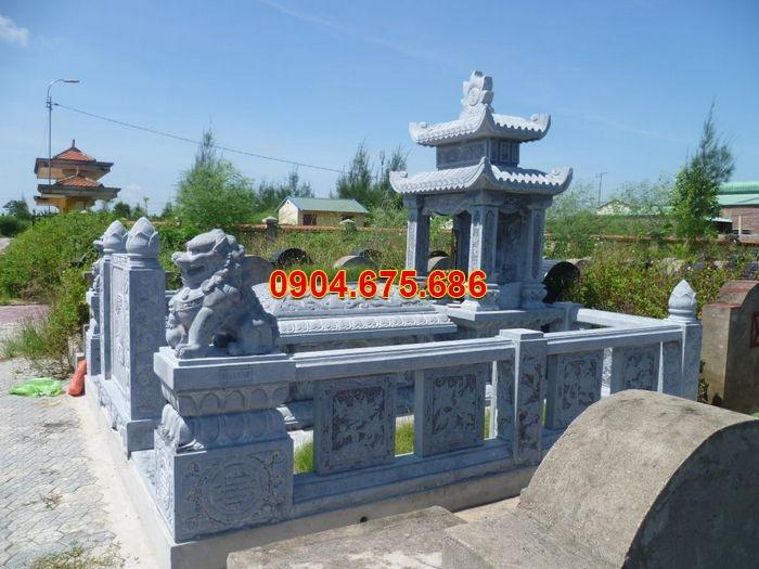 Lăng mộ đá tại Ninh Bình đẹp, lăng mộ đá đơn 2 mái