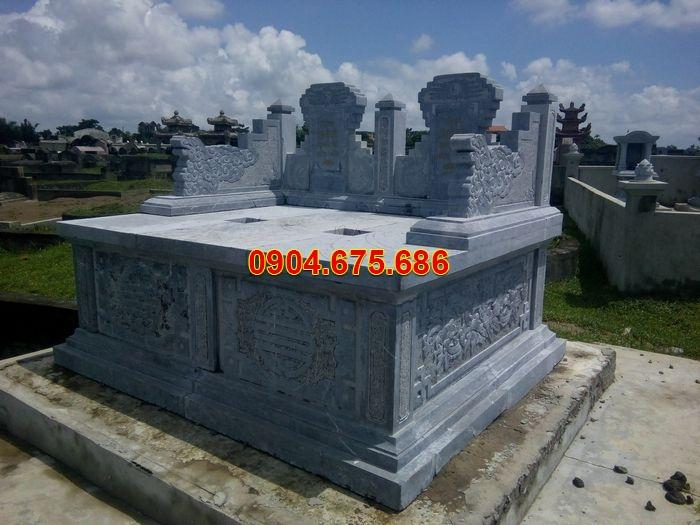 kích thước xây mộ đá đôi đẹp