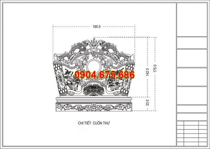 30 Bản vẽ thiết kế khu lăng mộ đá đẹp Ninh Vân - Ninh Bình chuẩn phong thủy